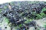 惊现自行车墓地